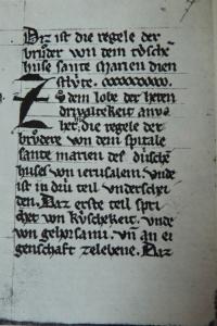 regle ordre teutonique, émergence de l'ordre