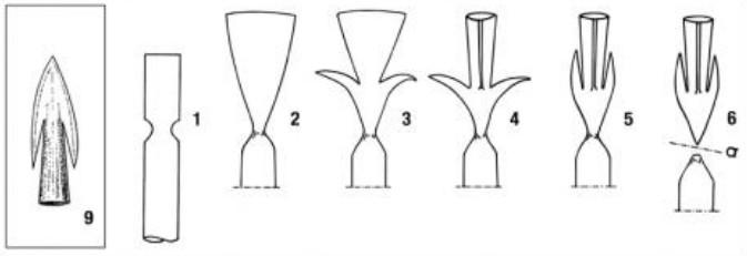 arc, archerie, arme, armement, flèche, flèches, pointe de flèches carolingienne