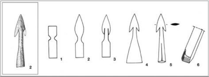 arc, archerie, arme, armement, flèche, flèches, pointe de flèches merovingienne